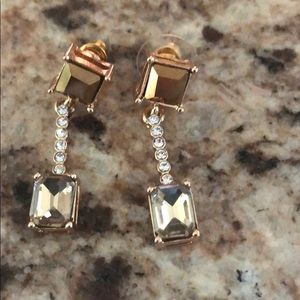 Charming Charlie dangling diamond earrings